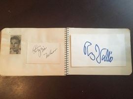 Little autograph book with various stars of yore, including Ozzie Nelson and Rudy Vallee.