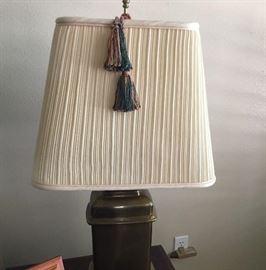Lamp Brown Beige Shade