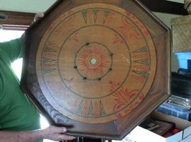 Here is a very uniques Carrom Board. We've never seen one like this!