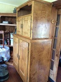 Handmade cabinet by family member. Pine....