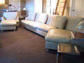 Leather Sectional and Armchair by Roche Bobois.