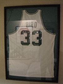 Larry Bird signed jersey.