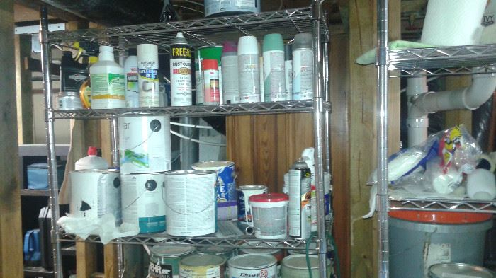 The paints going but the racks are for sale.