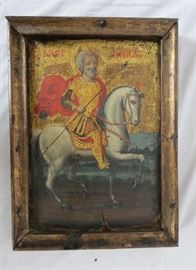 Antique Greek Coptic/Orthodox Wood Icon