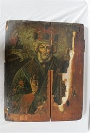 Antique Greek Coptic/Orthodox Wood Icon