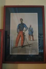 Armand Dumaresq color lithograph