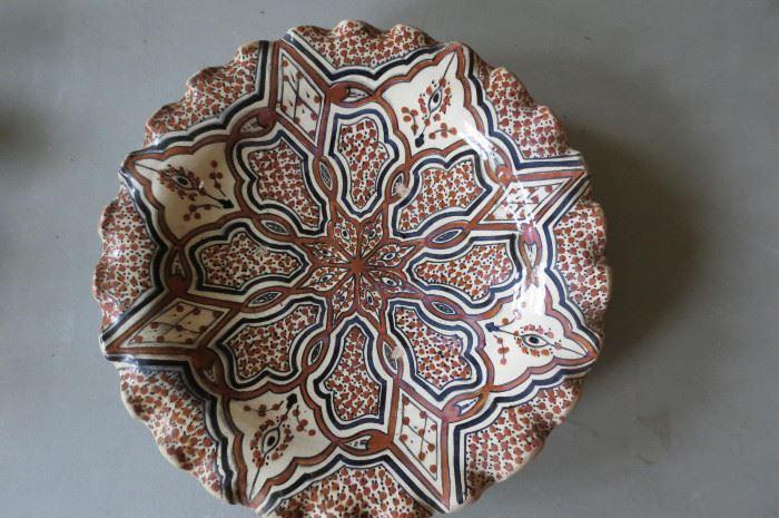 Vintage Moroccan Safi Handmade Pottery Wall Hanging
