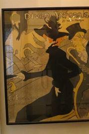 Albi Museum Issued/ Toulouse-Lautrec, Divan Japonais Print Framed