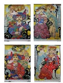 Bjorn Wiinblad posters from the Dallas Texas Exhibit of Wiinblad  Tapestries..