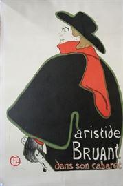 "Toulouse Latrec ""Aristide Bruant At His Cabaret"" Framed Lithograph Print"