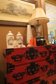 Chinese Lacquered Chest of Drawers