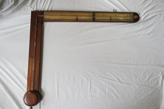 Antique English Charles Howorth Angle Barometer
