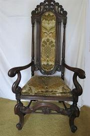 Jacobean Throne Chair