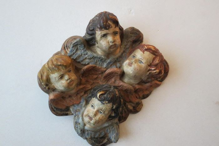 Italian Carved Putti Wall Hanging