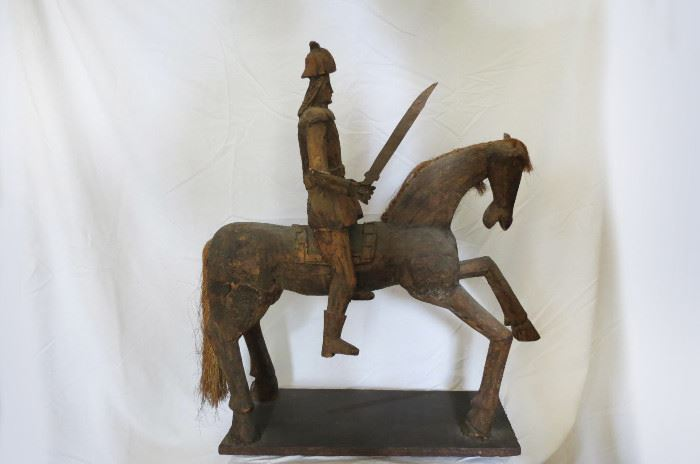 Very Large Carved Wood Sculpture..