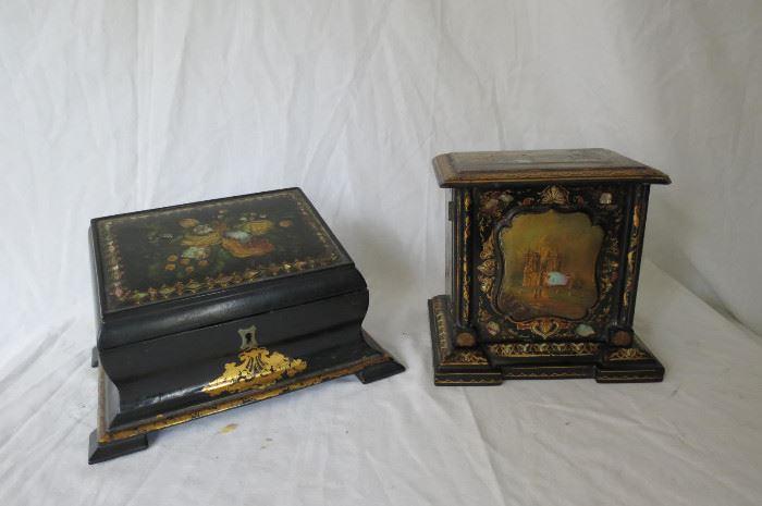 Paper Mache Victorian Boxes