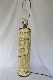 Italian Bucciarelli Newspaper Table Lamp