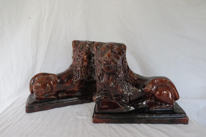 Redware Lions