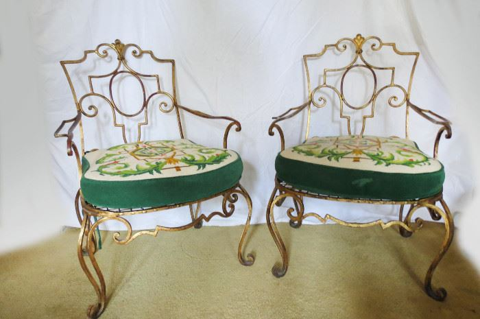 Iron Gilt Chairs