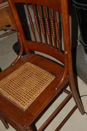 Cane seated chair. Top shape.