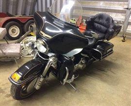 2 - 1996 Harley Davidson with 35,058 miles, black, garage kept