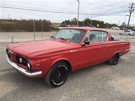 8 - 1960 Plymouth Barracuda suburban car, runs well with good transmission and new tires, exhaust and brakes.