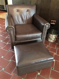 PAIR OF BROWN CHAIRS