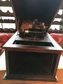 Antique Edison phonograph