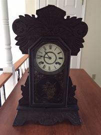 Antique kitchen gingerbread clock