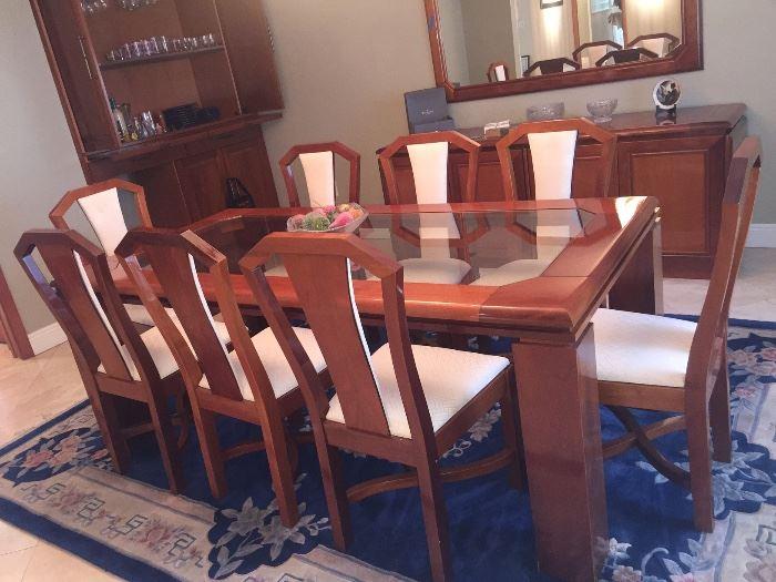 Stunning vintage Brazilian 12 piece Dining Room set
