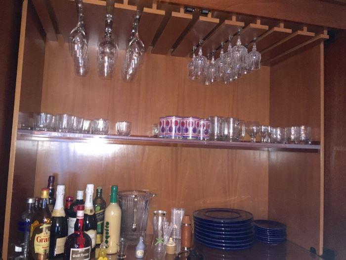 Assorted stemware & barware