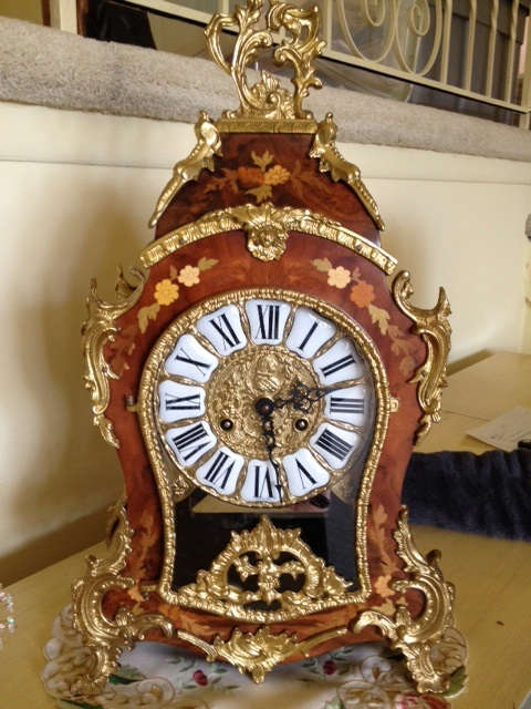 Franz Hermie clock-ornate and mint condition