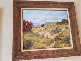 "Charles N. Pruitt Oil on canvas 32"" X 29"""