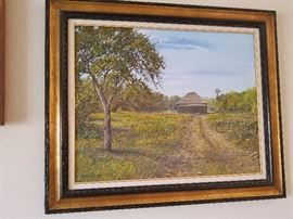 "Charles N. Pruitt Oil on Canvas 38""X32"""