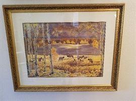 """Claire Louise Goldrick Watercolor 48""""X36"""""""
