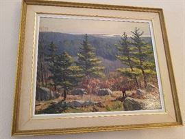 "Walter Bollendonk Oil on canvas 38"" X 22"""