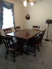 Dining Table with 6 Chairs and 2 leaves $475