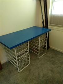 Desk with drawers. $30