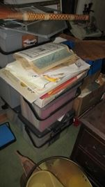 Part of the boxes and stacks