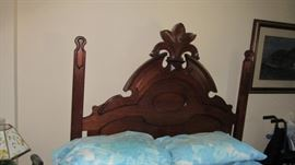 Walnut Full Size 19th Cent. Bed