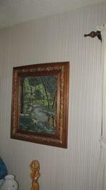 Oak Framed  Pastoral Print