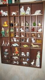 Wall Miniature Cabinet & Contents