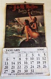 1906 J&M Gaffen Brewing Co. Calendar, Re-Issue