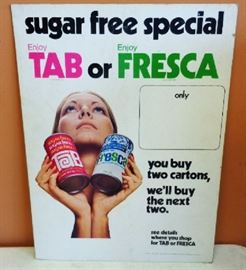 Orig. 1960s TAB/Fresca CB Advertisement