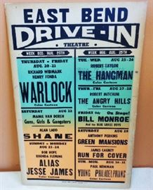 Original 1960s Drive-In Theater Poster