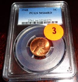 PCGS#2761.66/32240373 1948 1 Cent USA MS66RD