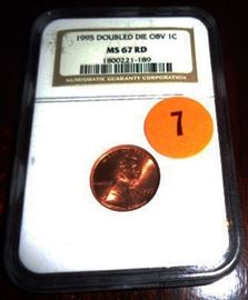 NGC#1800221-189 1995 Doubled Die OBV 1 Cent USA MS67RD