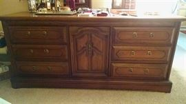 Quality wood dresser with mirror