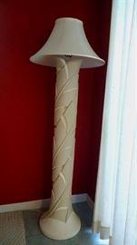 Tropical look floor lamp
