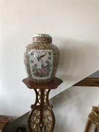 Oriental Painted Ginger Jar.